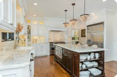 White and natural wood kitchen design - Parade of homes SLC Utah - house of smiths