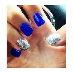 Blue & silver sparkles