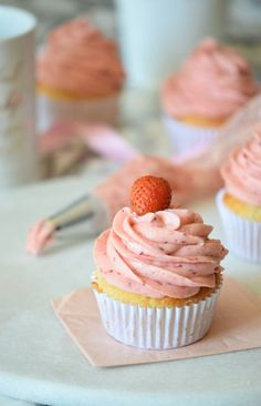 Mind Blowing Strawberry Frosting Recipe. Also, substitutions to make a vegan strawberry frosting! Great as dips, to frost cupcakes or to decorate cakes!   carmelapop.com