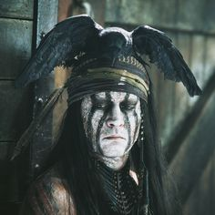Johnny Depp as Tonto in the Lone Ranger <3