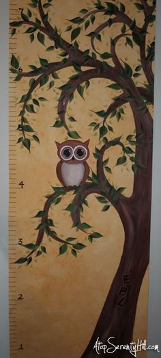 Painted tree growth chart « Atop Serenity Hill