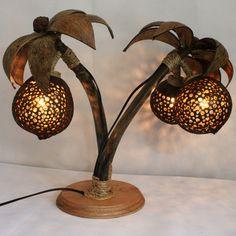 coconut+shell+lamps | Handmade coconut shell coconut lamp cross lamp style lighting ...