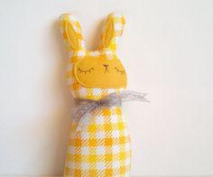 SALE handmade spring bunny plush Gwendolyn by sleepyking on Etsy, $20.80