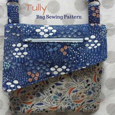 Tully Clutch and Bag Pattern:  The Tully clutch and Bag pattern is a fantastic beginner - Intermediate sewing pattern that includes 2 sizes in this