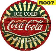 images vintage coca-cola | Placas Coca-cola Retro Vintage Rusticas Redondas - R$…