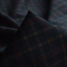 Darken Room - Dull Dark Check Polyester Dress Suiting Fabric CU