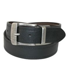 Levi's Big and Tall Antiqued Buckle Reversible Leather Belt