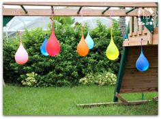 DIY water balloon pinata - Totally going to do this today for the last day of school party!