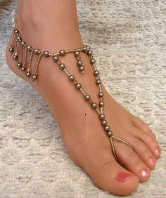 Foot Jewelry. Ok. I love this but I knoooow my friends & fam would tease me endlessly for wearing this. Cause sersly it is a little cheesy.