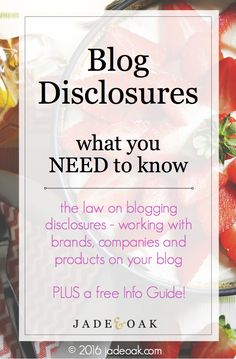 Blog Disclosures - What You Need to Know. This isn't strictly marketing-related, but some great advice here for business owners and bloggers.