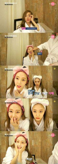 Jessica & Krystal give a slight peek at their bare faces on 'Jessica & Krystal' | allkpop.com
