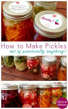 Basic Refrigerator Pickle Recipe - Not too long ago, I had a long-time dream come true: I taught my first full-on cooking class. We played around with my refrigerator pickle recipe and had such a blast! Okra Recipes, Canning Recipes, Vegan Recipes, Canning 101, Diet Recipes, Refrigerator Pickle Recipes, How To Make Pickles, Pickled Okra, Pickles
