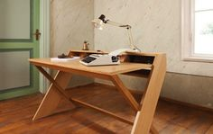 """This beauty of a desk by Leonhard Pfeifer was shown at the latest Maison et Objet Fair in Paris. The aspiration for the piece was """"to look striking from any angle so it could sit in the middle of a..."""