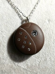 Silver Diamonds, Diamond Studs, Round Diamonds, Beach Stones, Stone Art, Statement Jewelry, Fashion Necklace, Jewelery, My Etsy Shop
