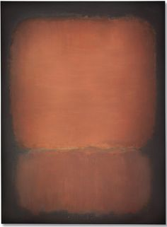 Mark Rothko, No. 10 (1958), oil on canvas. Photo courtesy Christie's.