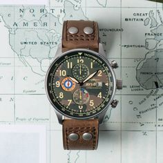 The classic aviation inspired chronograph: Hawker Hurricane Steel Camo by AVI-8. http://ift.tt/2jJ589X