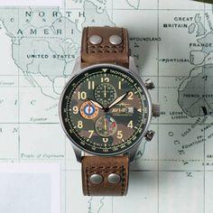 The classic aviation inspired chronograph: Hawker Hurricane Steel Camo by AVI-8. http://ift.tt/2jJ589X