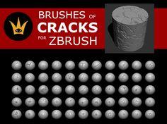 ArtStation - CRACKS brushes for ZBrush, gerardo Castellanos Zbrush Tutorial, 3d Tutorial, Zbrush Character, Character Art, Character Design, Digital Sculpting, Digital Painting Tutorials, Sketchbook Pages, Anatomy Tutorial