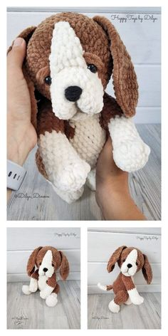 Amigurumi Cute Dog Free Pattern - Free Amigurumi Pattern, Informations About Amigurumi Cute Dog Free Pattern - Kostenlose Amigurumi-Muster Pin You can eas Crochet Amigurumi Free Patterns, Crochet Animal Patterns, Stuffed Animal Patterns, Crochet Animals, Free Crochet, Knitting Patterns, Crochet Bunny, Crochet Dolls, Crochet Crafts
