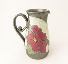 23oz Milk Jug Ceramic milk Pitcher water pitcher by Avanturine