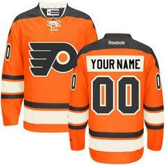 Reebok Philadelphia Flyers Orange Premier Alternate Custom Jersey