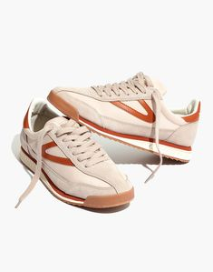 Madewell x Tretorn® Sneakers in tan neutral image 1 Summer Sneakers, Best Sneakers, Sneakers Fashion, Clearance Shoes, Sporty Chic, Girl Next Door, Buy Shoes, Womens High Heels, Madewell