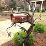 Mailbox Made Of Metal Design At The Top Of The Tree In Your Garden