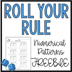 Role Your Rule: Creating Number Patterns Freebie by Love Learning Math Patterns, Number Patterns, 4th Grade Social Studies, Free Activities, Mathematics, Middle School, Card Stock, Numbers, Differentiation