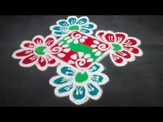 rangoli design 116 - YouTube