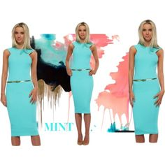 Mint by designerdesirables on Polyvore featuring Honor Gold and Myne