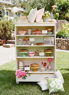 repurpose a dresser with no drawers