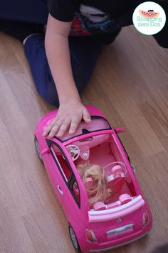Coche de Barbie Rosa Fiat 500