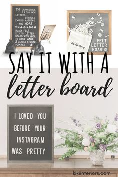 Letter boards are a great way to mark milestones like birthdays and back to school. They can add a unique look to a wedding but I also like how they can be used as a teaching tool. Family Wall Decor, Felt Pouch, Felt Letter Board, Letter Symbols, Home Board, Decorating Blogs, Interior Decorating, For Your Party, Country Decor
