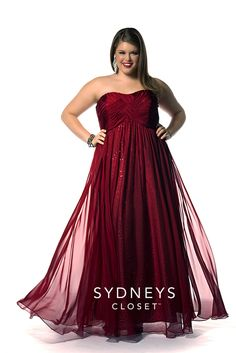 The Dream Girl #PromDress is the perfect plus size gown for any girl that wants to sparkle! The shining sequin net laying just beneath a flowing chiffon skirt adds a touch of bling. Dream Girl comes in three colors and is sold in sizes 14 to 32!