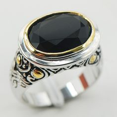 Black Onyx Women 925 Sterling Silver Ring F928 Size 6 7 8 9 10 #Affiliate