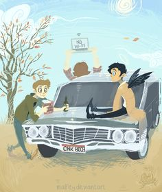 The world needs more Kevin Tran Supernatural Drawings, Supernatural Fan Art, Supernatural Imagines, Castiel, Kevin Tran, Lore Olympus, Film Serie, Red Dead Redemption, Character Aesthetic
