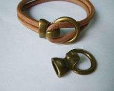 5mm redonda Natural genuino cordón de cuero cuero marrón