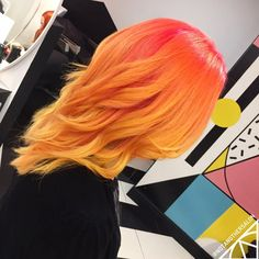 """6,741 Likes, 60 Comments - Not Another Salon (@notanothersalon) on Instagram: """"The results... #orangehair #yellowhair #colourfulhair #creativecolour @spookyruno"""""""