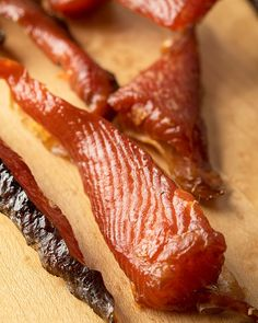Smoked Salmon Jerky Recipe, Candied Salmon Recipe, Smoked Salmon Recipes, Trout Recipes, Spicy Salmon, Jerkey Recipes, Traeger Recipes, Smoker Recipes, Cooking Recipes