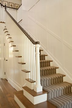 Staircase in Traditional LEED Gold Home