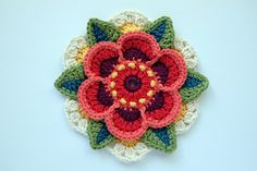 Wow! We are on to block six already!   I have called the block featured in this pattern release 'Ring of Roses'. This is the very first blo...
