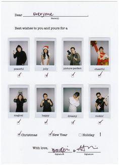 Merry Christmas! Great Christmas Card Idea! :)