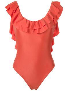 Shop Adriana Degreas ruffled swimsuit.
