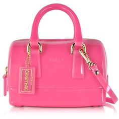 Furla Handbags Candy Jelly Rubber Mini Satchel ($170) ❤ liked on Polyvore featuring bags, handbags, pink, furla handbags, handbag satchel, miniature purse, mini satchel purse and mini satchel