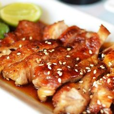 My personal favorite combination.. Grilled Teriyaki Chicken Recipe from Grandmothers Kitchen.