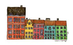 Hey, I found this really awesome Etsy listing at http://www.etsy.com/listing/150339374/copenhagen-illustration-print-of-nyhaven