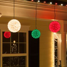 10 quick ways to add Christmas cheer to your home! Hang lighted spheres from the porch or among tree branches, the result is a festive outdoor display in no time! http://blog.christmaslightsetc.com/decorating/10-last-minute-christmas-light-ideas-in-10-minutes-or-less/
