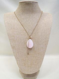 ADO Pink Stone Gold Chain Necklace | All Dec'd Out