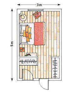 Plano de armario de obra que aloja el vestidor