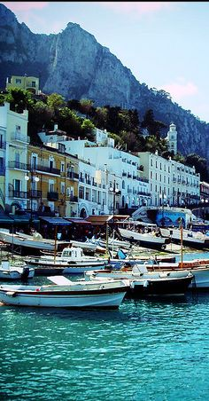 Capri, Italy -one of the most beautiful places I've ever been too. I will go back there... one day.